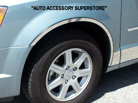 2008-Present Dodge Grand Caravan Chrome Fender Trim (4 PCS). - Ronusa.com