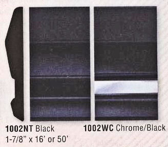 "16-1002WC-16 Chrome/ Black Door Molding 1 7/8"" Wide by 16Ft. - Ronusa.com"