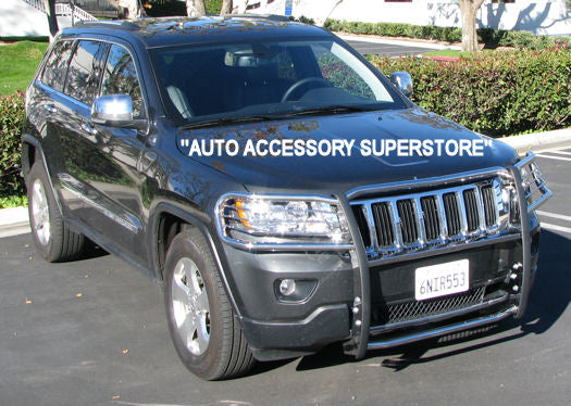 11-15 Jeep Grand Cherokee (Non SRT; Summit; Trail Hawk) Brush Guard (Chrome Version) - Ronusa.com