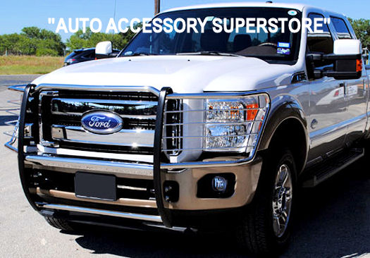 2011-2016 Ford Superduty Grille Guard: Black Version