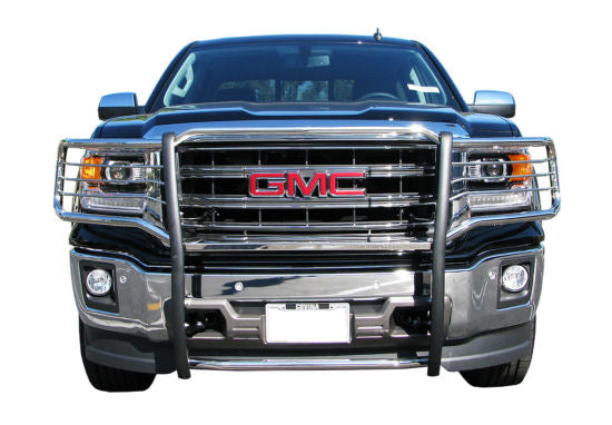 2014-Up GMC Sierra Grille Guard: Black Version