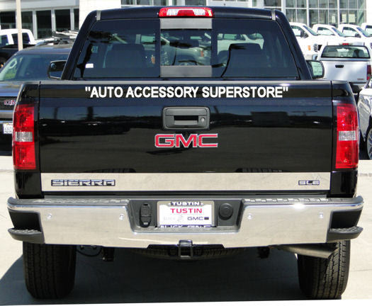 2014-2018 GMC Sierra (SLE Version) Chrome Lower Tailgate Trim - Ronusa.com