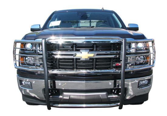 2015-2019 Chevy Silverado 2500/3500 (HD Series) Brush Guard (Black Version) - Ronusa.com