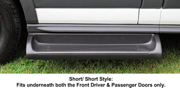 "2015-Up Ford Transit 148"" WB. (Fits all Versions) TPO (Short/Short) Molded Running Boards - Ronusa.com"