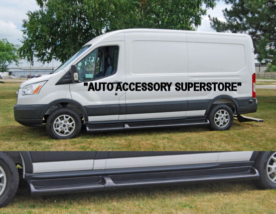 "2015-Up Ford Transit 148"" WB. (150/250 Single Rear Wheel Versions) TPO Molded Running Boards - Ronusa.com"