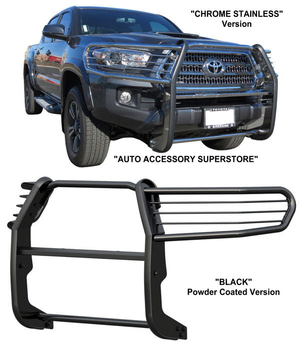 2016-Up Toyota Tacoma Grille Guard: Black Version; Access Cab