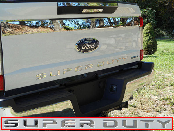 "2017-2019 Ford SuperDuty Chrome Lower Tailgate Trim ""LETTERS"" Only - Ronusa.com"