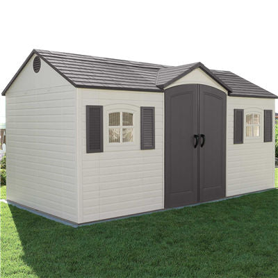 Lifetime 15 Ft. X 8 Ft. Outdoor Storage Shed - Ronusa.com