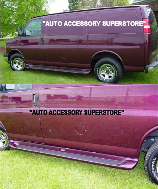 "1997-2021 Chevy Express Van (Without Body Cladding) 135"" WB. Running Boards - Ronusa.com"
