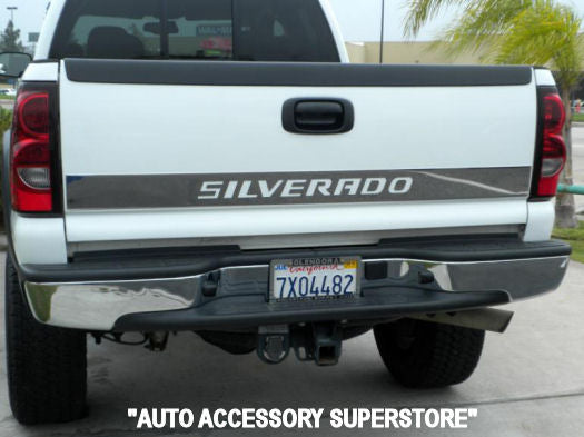 1999-2006 Chevy Silverado Chrome Lower Tailgate Trim (With Letter Cutouts) - Ronusa.com