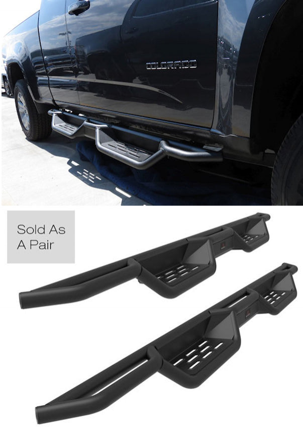 2015-Up Chevy Colorado Crew Cab Black (X-Magnum Style) Running Boards - Ronusa.com