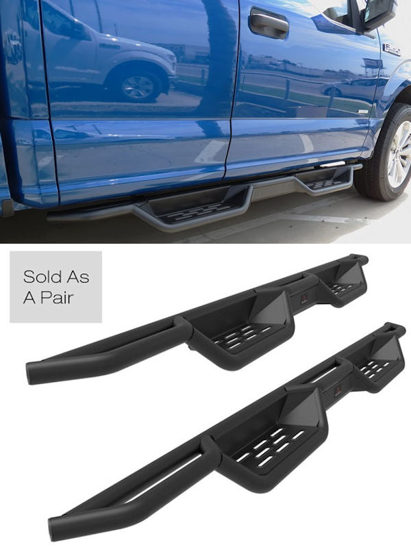 2009-2014 Ford F150 Ext. Cab Black (X-Magnum Style) Running Boards - Ronusa.com