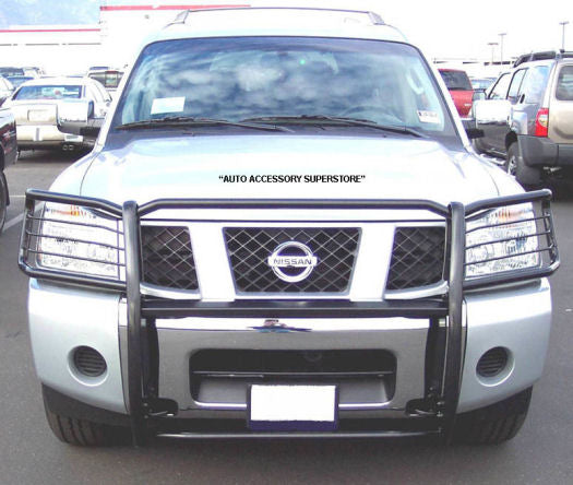 Nissan Titan Grille Guard: Black Version