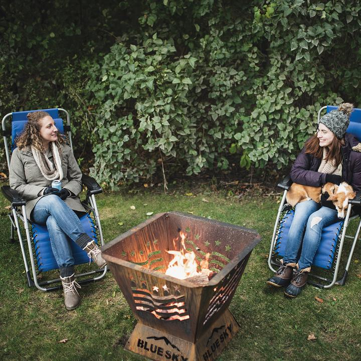 Badlands 29.5 in. Square Fire Pit – Stars and Stripes - Ronusa.com