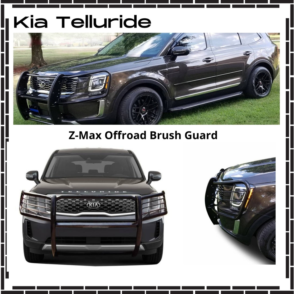 2020-Up Kia Telluride Brush Guard (Black Version) - Ronusa.com