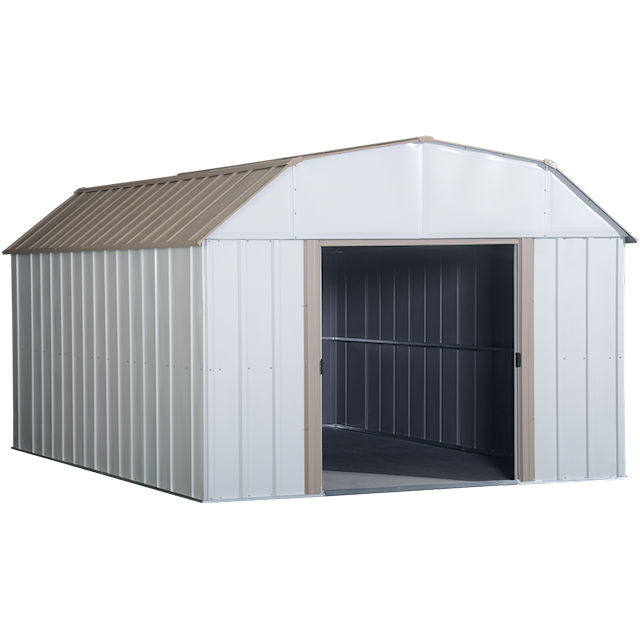 Lexington Steel Storage Shed; 10 Ft. X 14 Ft. (Eggshell Color) - Ronusa.com