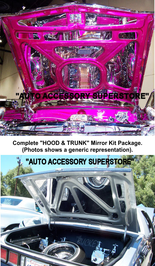 1969 Chevy Impala (Convertible) Hood & Trunk Mirror Kit Package - Ronusa.com