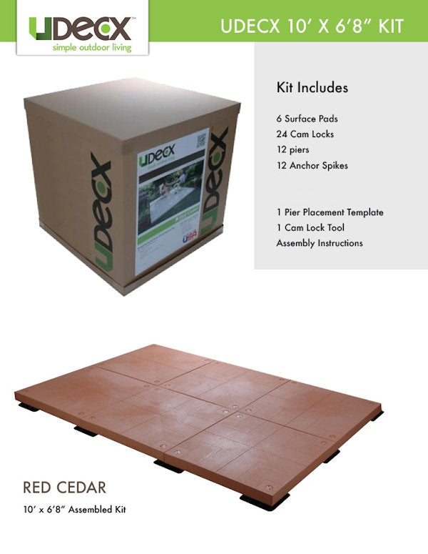 "UDECX 10' X 6'8"" Patio Deck Kit - Red Cedar - Ronusa.com"