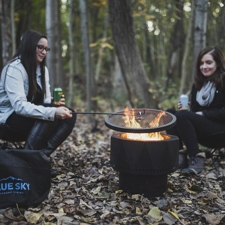 The Ridge Portable Patio Fire Pit with Spark Screen and Screen Lift: Smoke Free - Ronusa.com