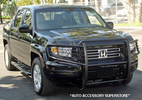 Honda Ridgeline Grille Guard: Black Version