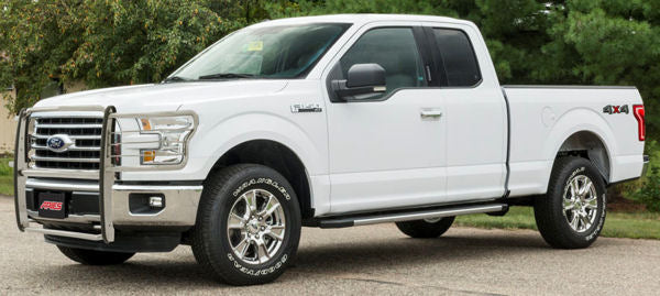 15-Up Ford F150 Pickup (Non Ecoboost Motor) Brush Guard (Chrome Version) - Ronusa.com