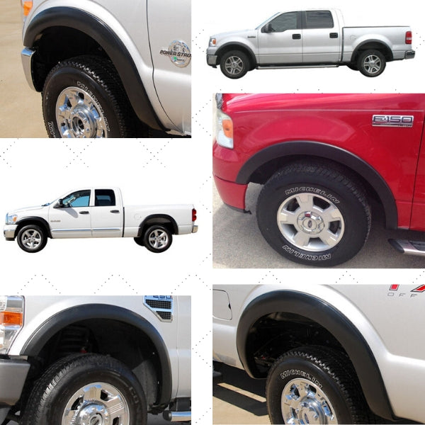 fender flares installed on trucks