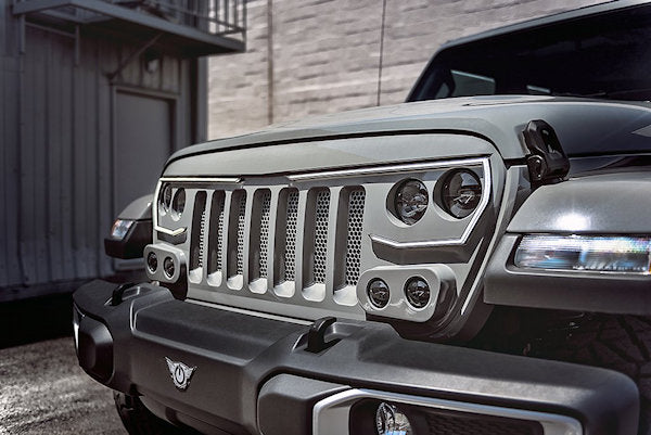vector type of jeep grill