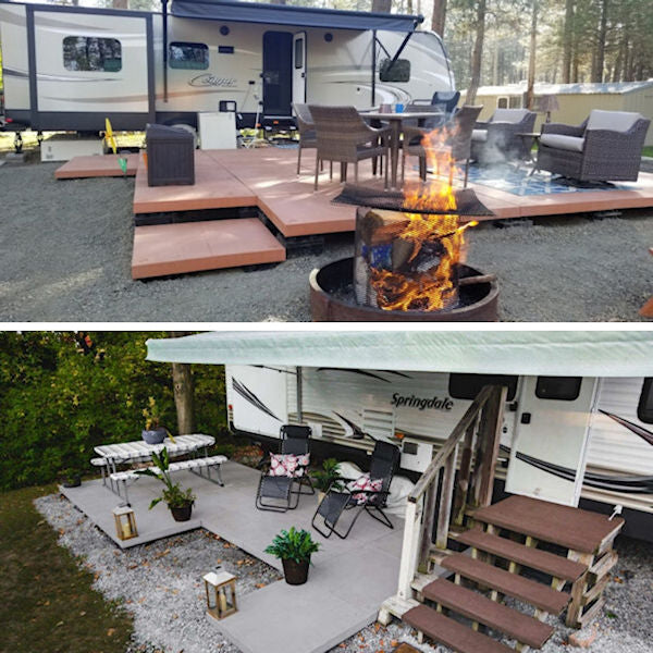 patio installed by camper