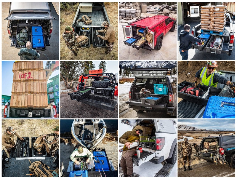 close up photos of truck bed storage