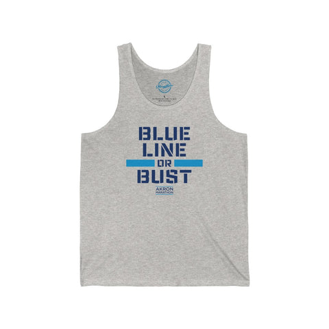 BLUE LINE OR BUST Unisex Jersey Tank
