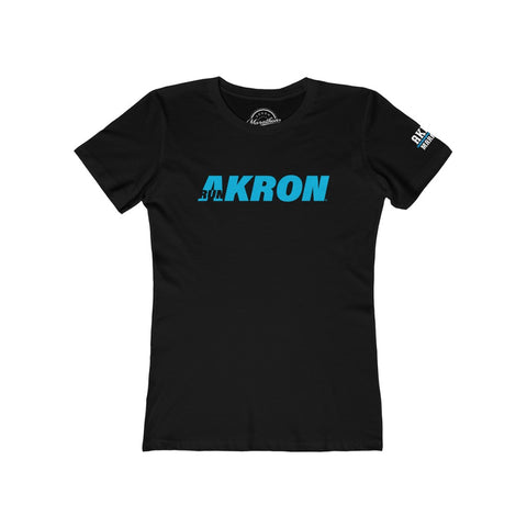 Women's RUN AKRON Tee