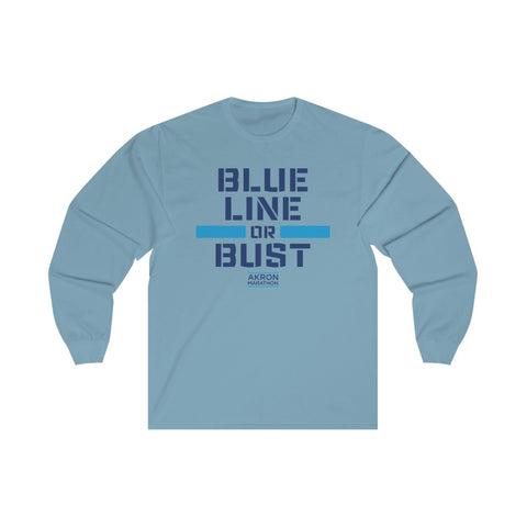 Women's BLUE LINE OR BUST Long Sleeve Tee