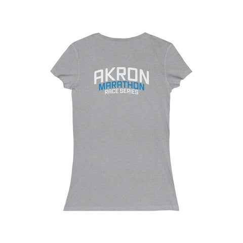 Women's RUN THE BLUE Jersey Short Sleeve V-Neck Tee