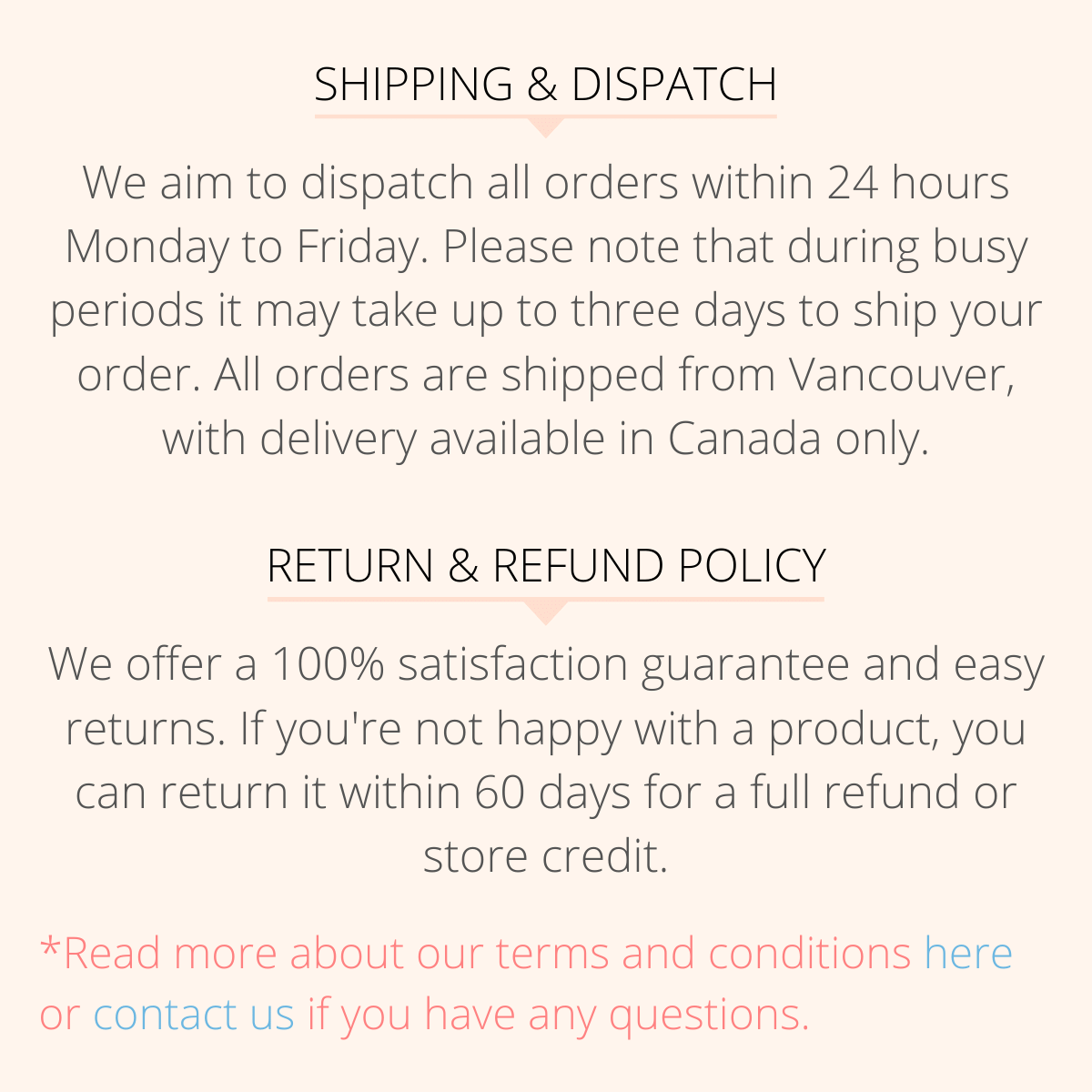 Shipping Policy 2 Timelessly Vancouver Jewelry