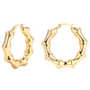 Bamboo Hoop Earrings Timelessly