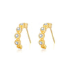 Bezel Row Stud Earrings Timelessly
