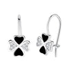 Black Clover Drop Earrings Timelessly