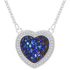 Blue Heart Necklace Timelessly