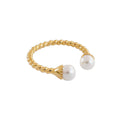 Pearl Braided Open Ring