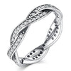 Braided Pavé Ring Timelessly