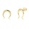 Bullhorn Stud Earrings Timelessly