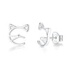Cat Face Stud Earrings Timelessly