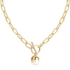 Chunky Chain Pearl Necklace Timelessly