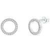 Circle Pavé Stud Earrings Timelessly