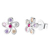 Colorful Flower Stud Earrings Timelessly