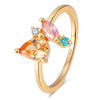 Colorful Pear Cluster Ring Timelessly