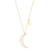 Crescent Moon Star Necklace Timelessly