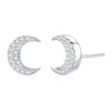 Crescent Moon Stud Earrings Timelessly