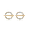 Crossed Circle Stud Earrings Timelessly