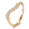 Curved Pavé Ring Timelessly